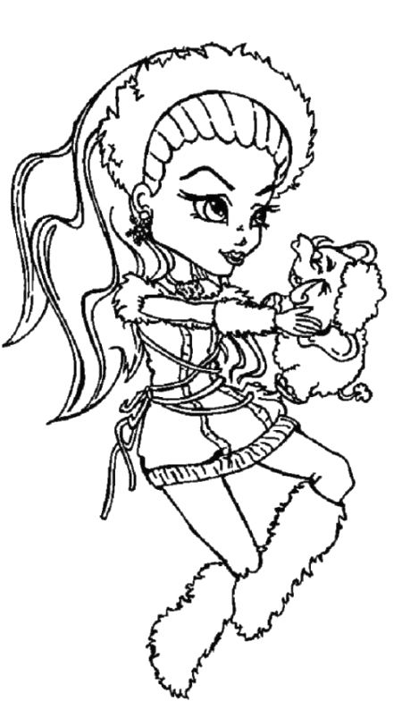 monster high pets coloring pages spectra vondergeist monster high and pet coloring page pets high monster coloring pages