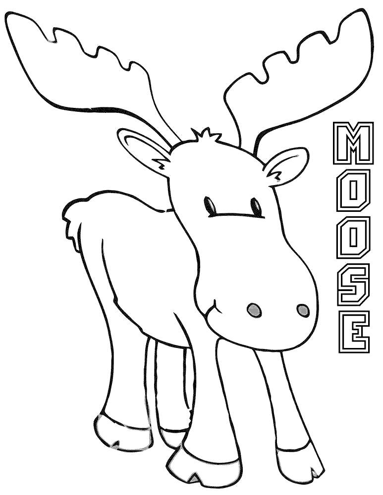 moose coloring moose coloring pages drawing pictures free printable coloring moose