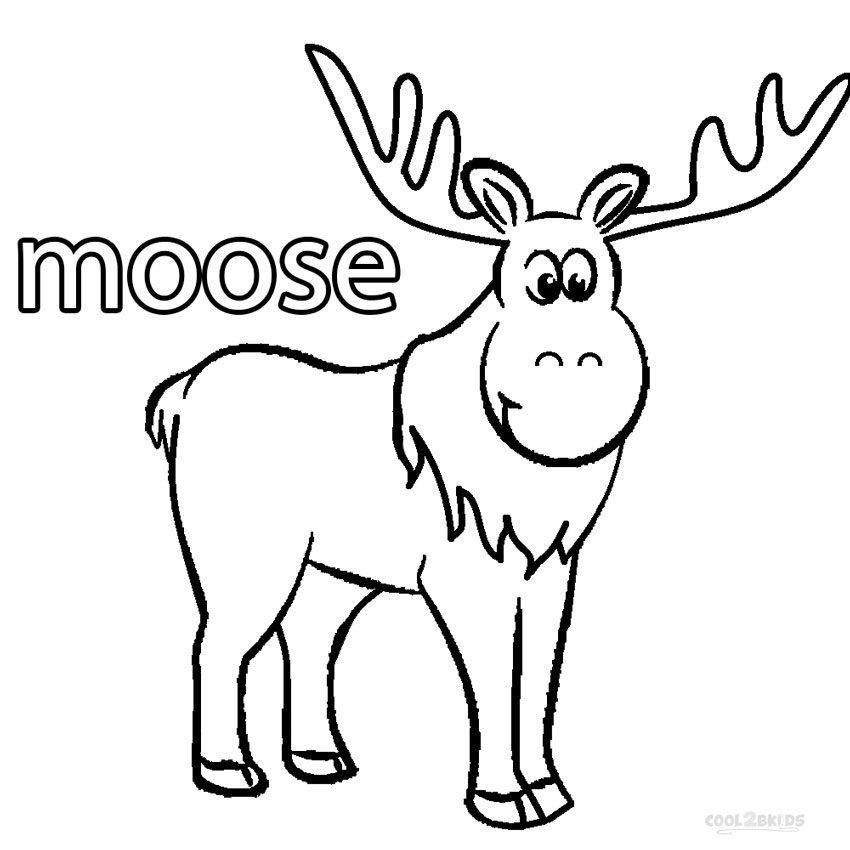 moose coloring printable moose coloring pages for kids cool2bkids moose coloring 1 1