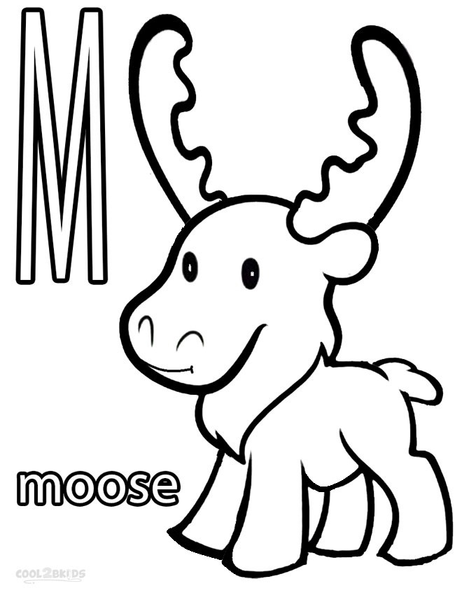 moose coloring printable moose coloring pages for kids cool2bkids moose coloring 1 2