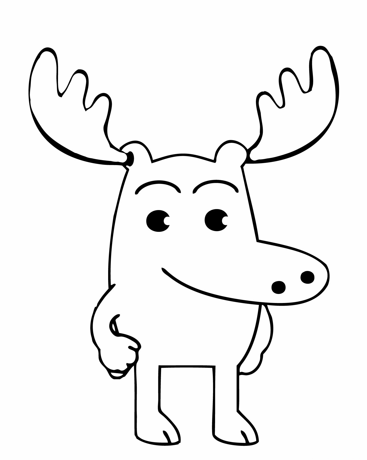 moose coloring printable moose coloring pages ideas moose coloring