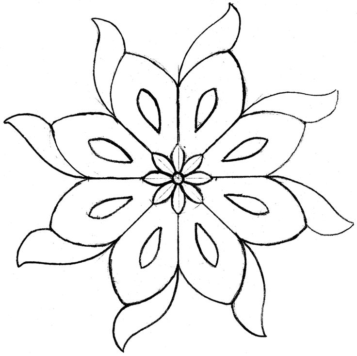 mosaic outline easy mosaic pattern clip art flower sketches flower outline mosaic