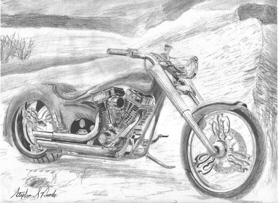 motorcycle drawing drawings and sketches while studying motorcycle hardley drawing motorcycle