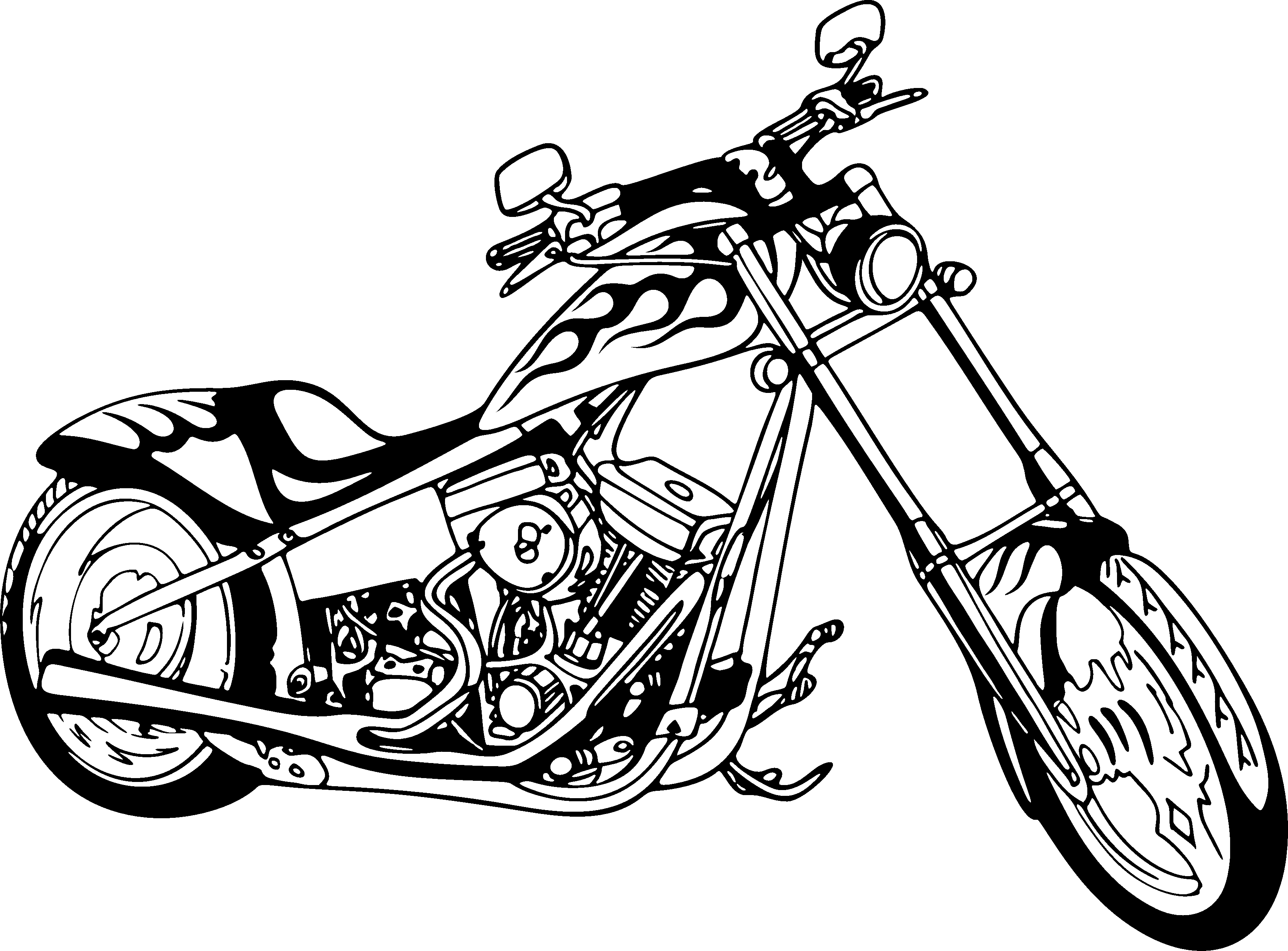 motorcycle drawing items similar to victory hammer motorcycle drawing custom motorcycle drawing