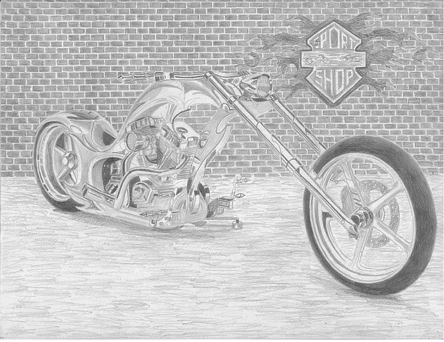 motorcycle drawing original motorcycle portrait gift for biker black and drawing motorcycle