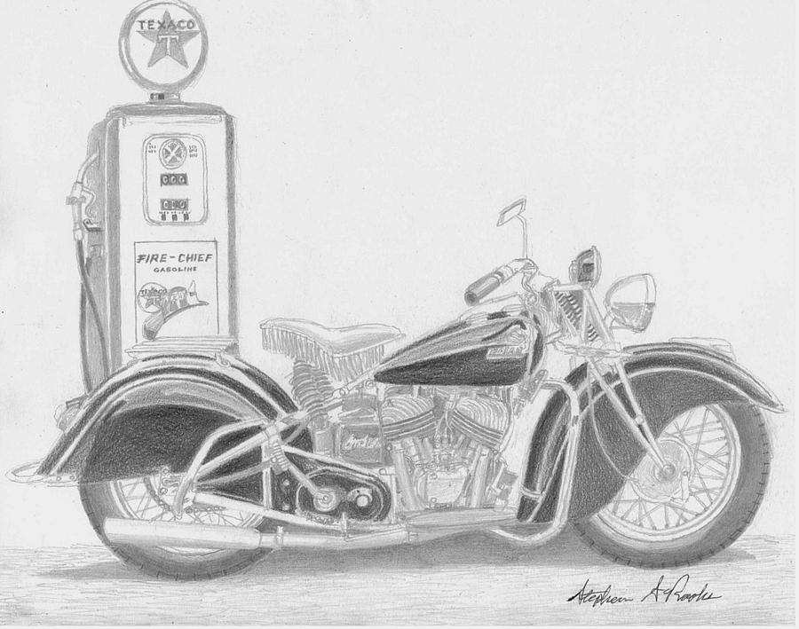 motorcycle drawing victory vegas motorcycle art print drawing by stephen rooks drawing motorcycle