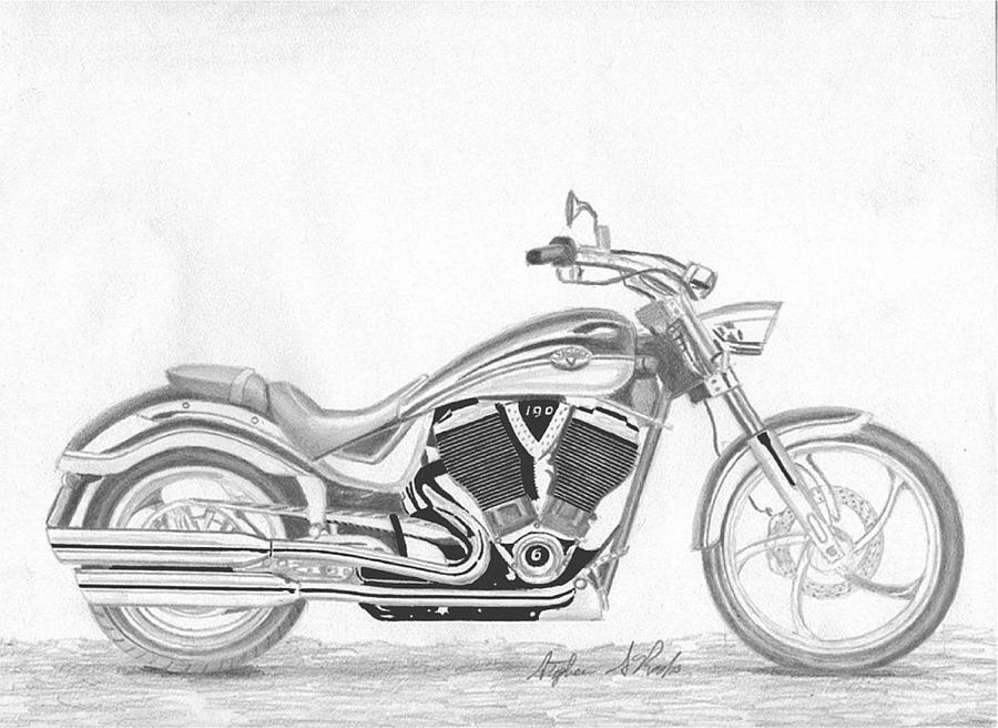 motorcycle drawing ww2 military motorcycle drawing by greg joens drawing motorcycle