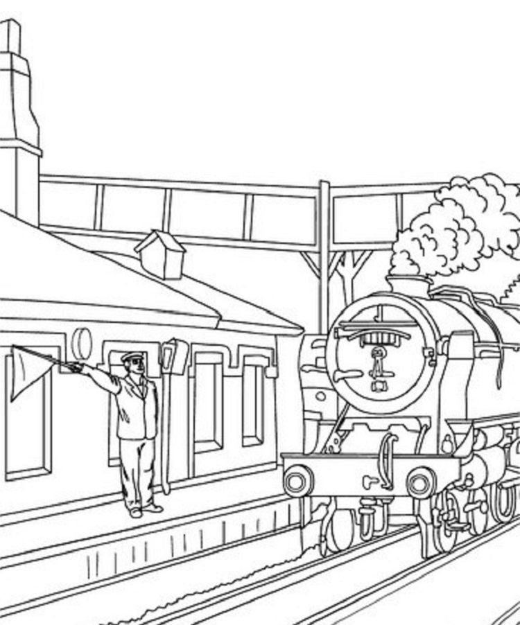 Mta train coloring pages