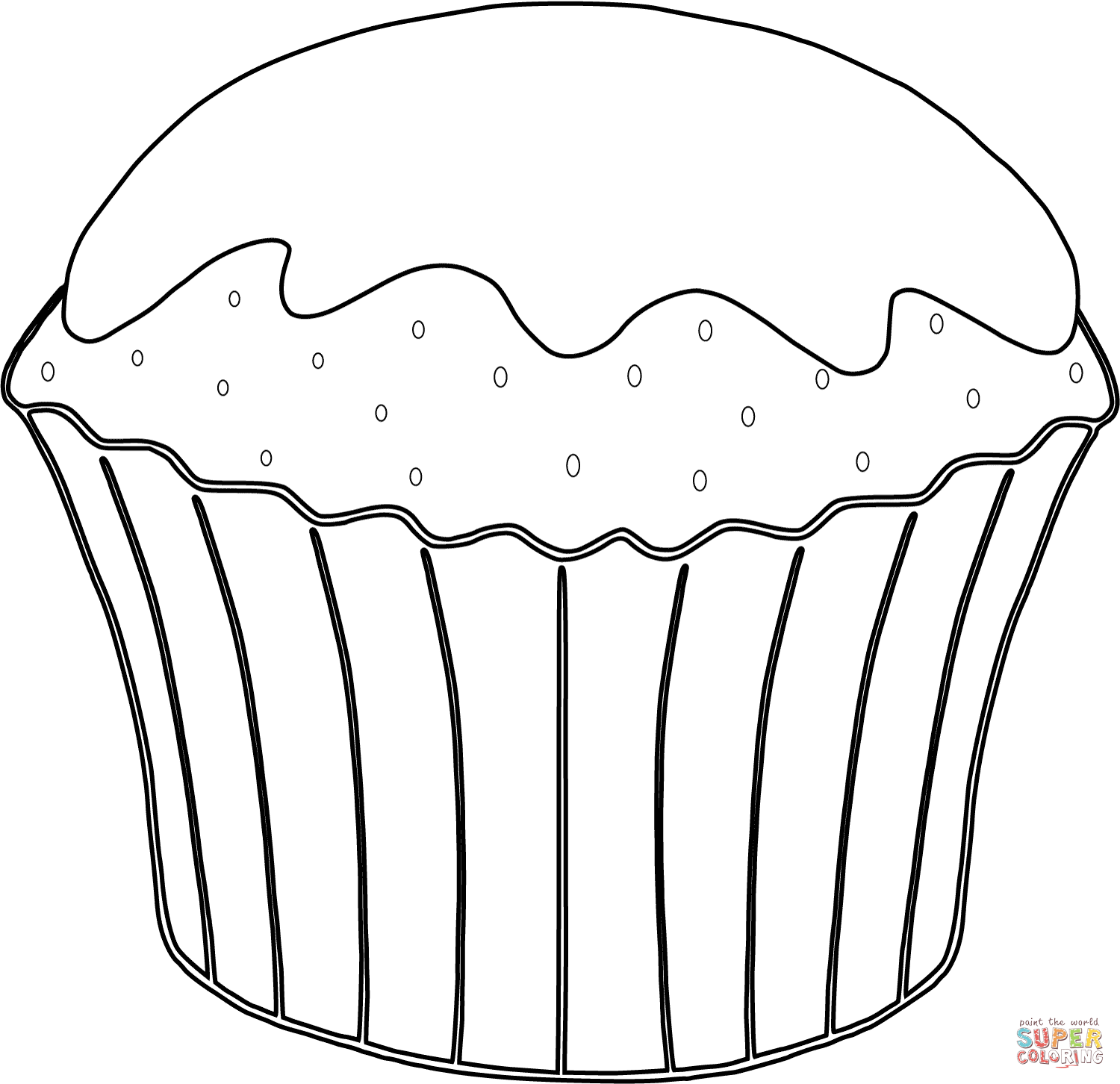muffin coloring sheet muffin coloring page at getdrawings free download muffin coloring sheet