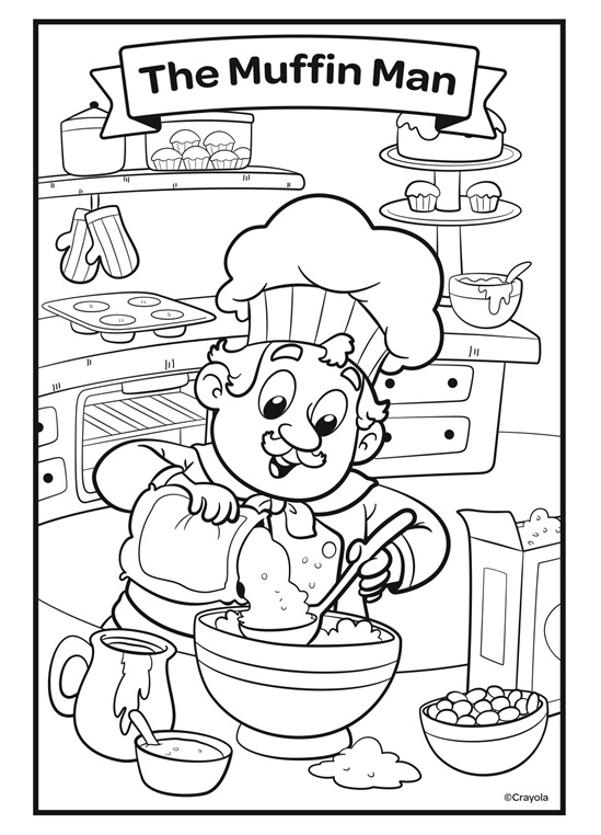 muffin man coloring page muffin man coloring page coloring home page man coloring muffin
