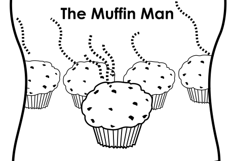 muffin man coloring page muffin man printable mini book mini books nursery rhyme coloring man page muffin