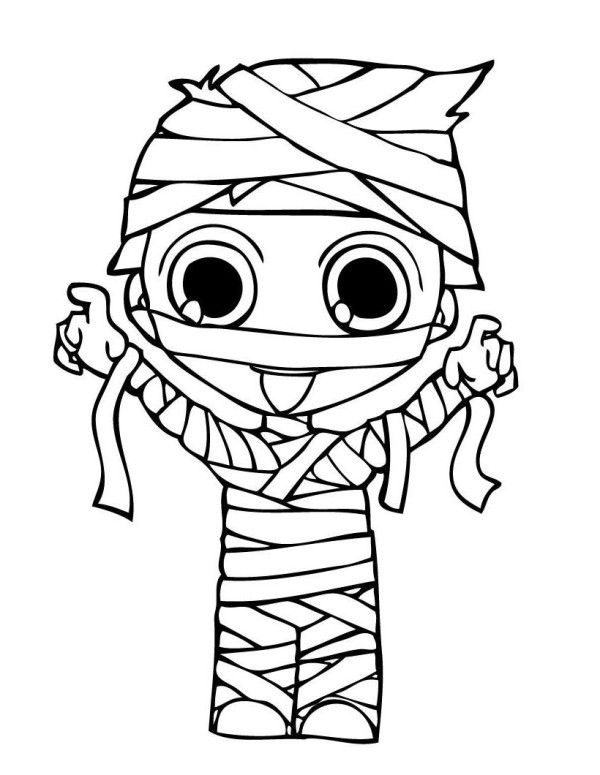 Mummy coloring pages halloween