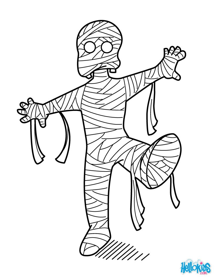 mummy coloring pages halloween halloween mummy coloring pages at getcoloringscom free mummy coloring halloween pages