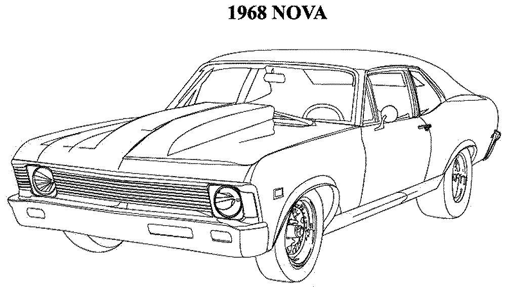 muscle car coloring pages muscle car coloring pages free printable muscle car car pages muscle coloring