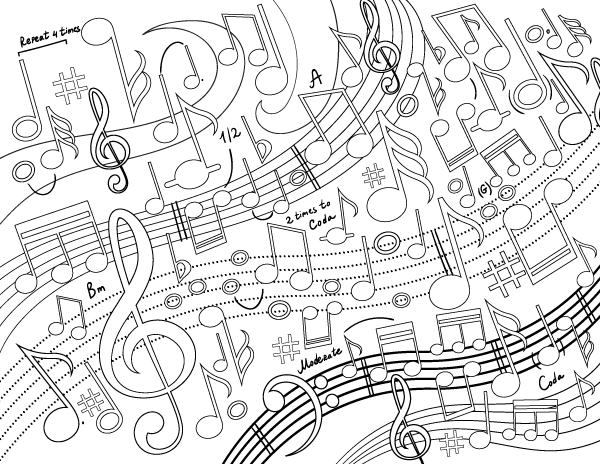 music notes coloring pages pdf nota musical pentagrama music notes music drawings pdf coloring music notes pages