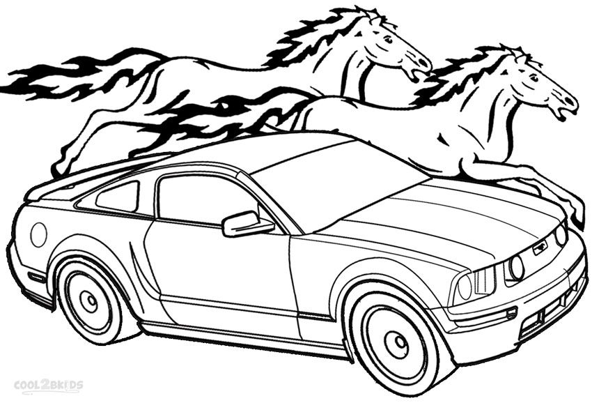 mustang race car coloring pages printable mustang coloring pages for kids cool2bkids car mustang coloring pages race