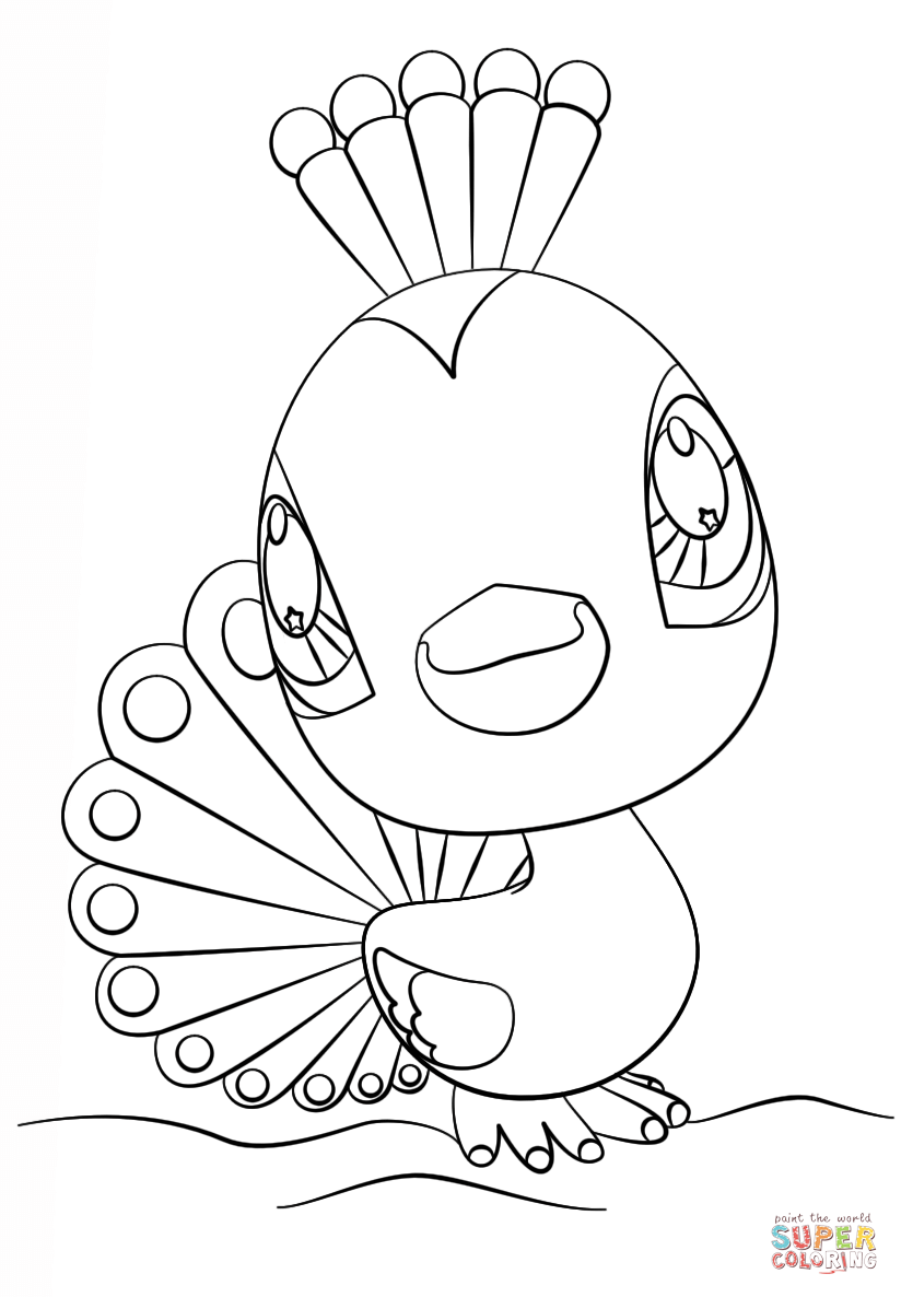 my little pet shop coloring pages littlest pet shop peacock coloring page free printable coloring pages my shop little pet