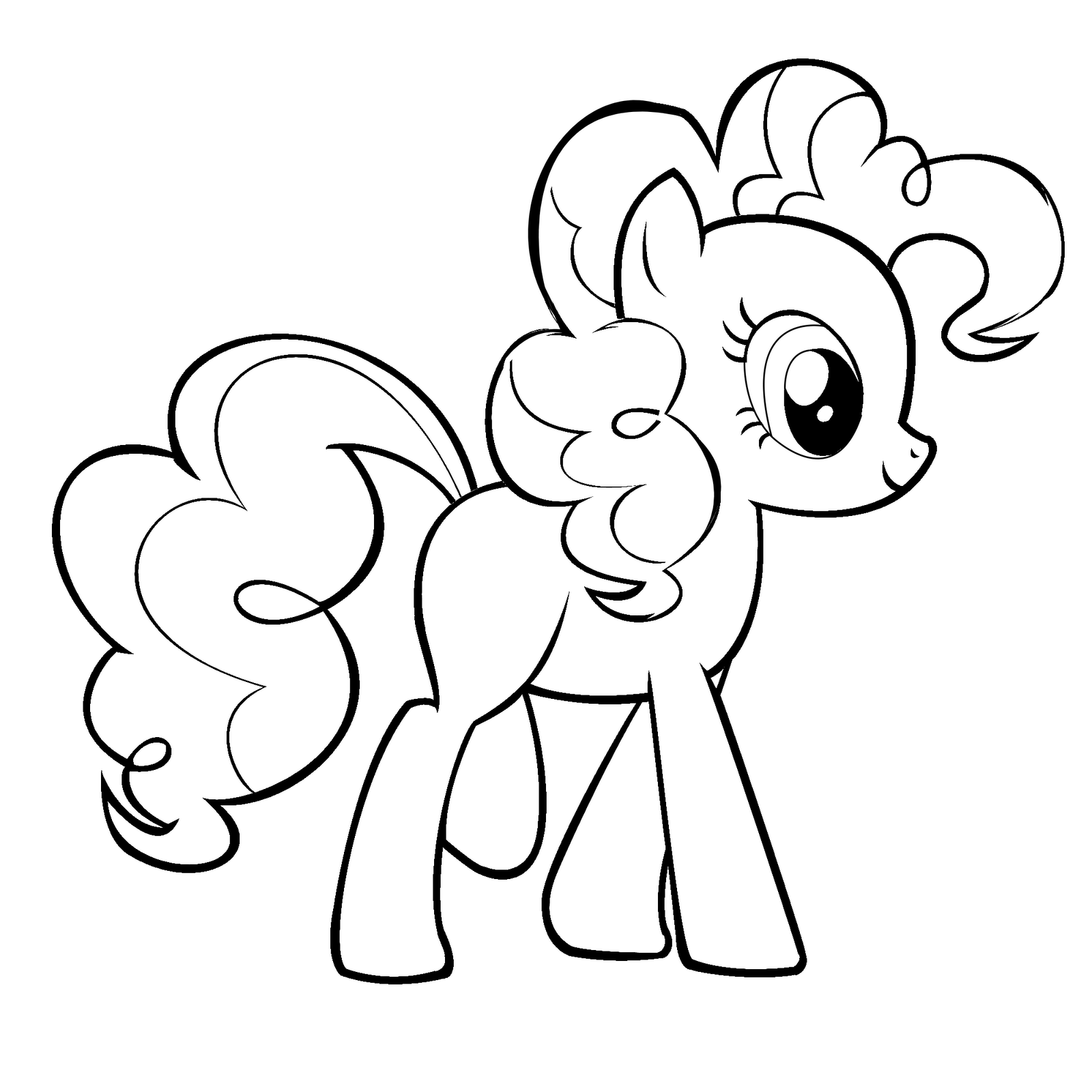 My little pony coloring template