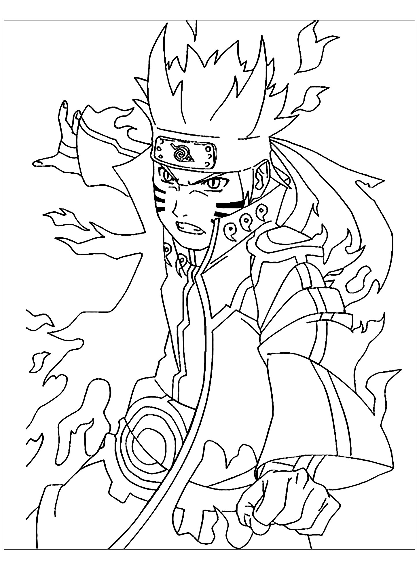 Naruto coloring sheets