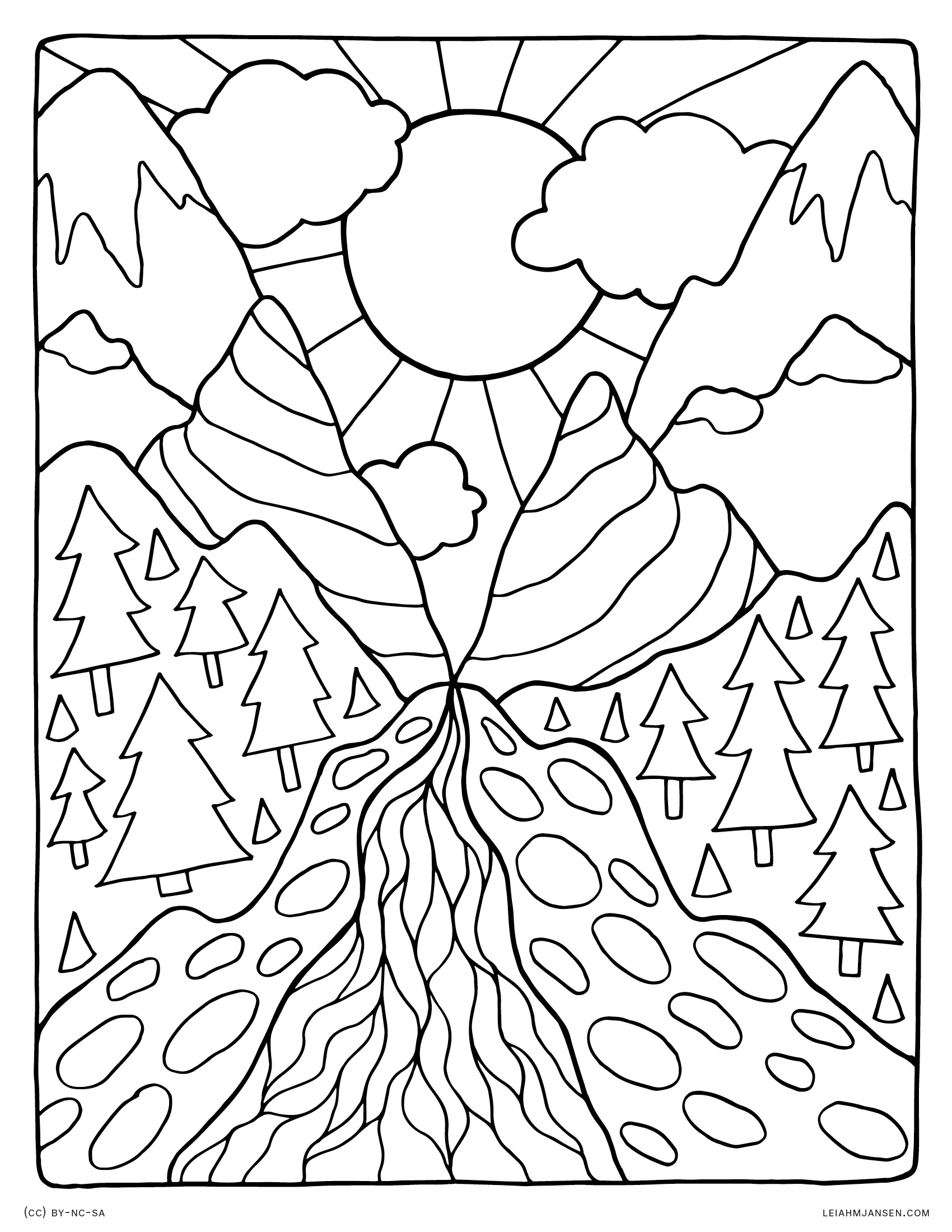 nature scene nature coloring pages free printable nature coloring pages for kids best pages coloring scene nature nature
