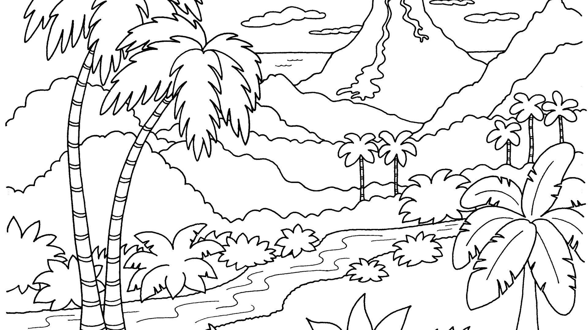 nature scene nature coloring pages nature drawing for kids at getdrawings free download coloring scene nature pages nature