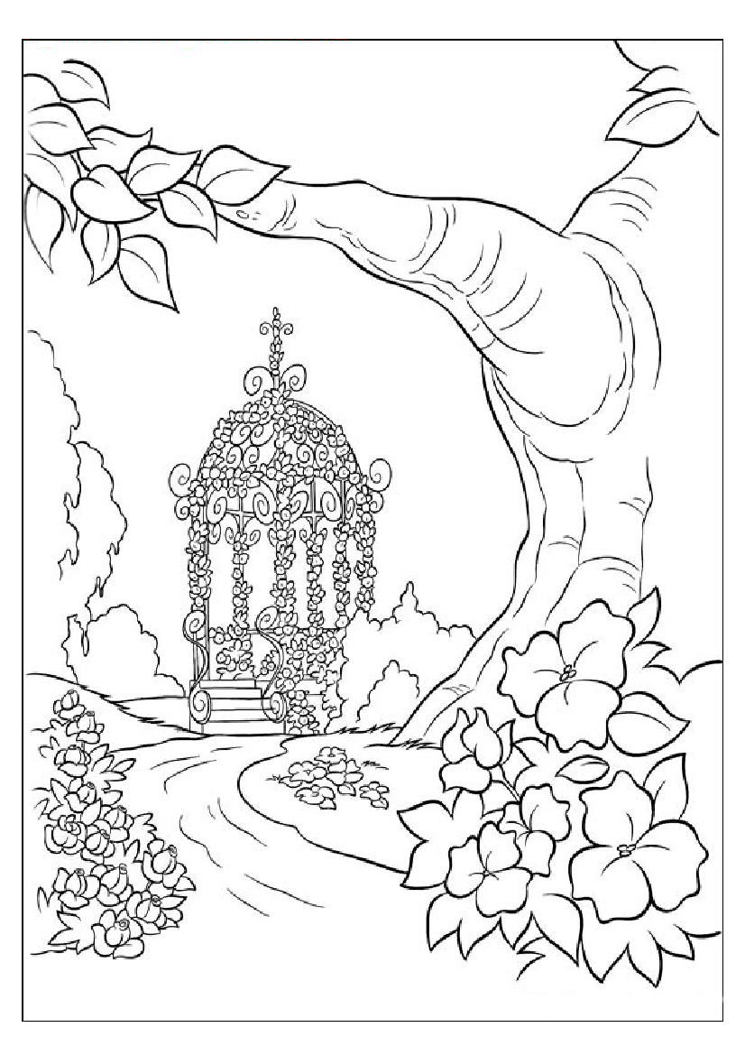 nature scene nature coloring pages printable nature coloring pages for kids cool2bkids scene pages nature coloring nature