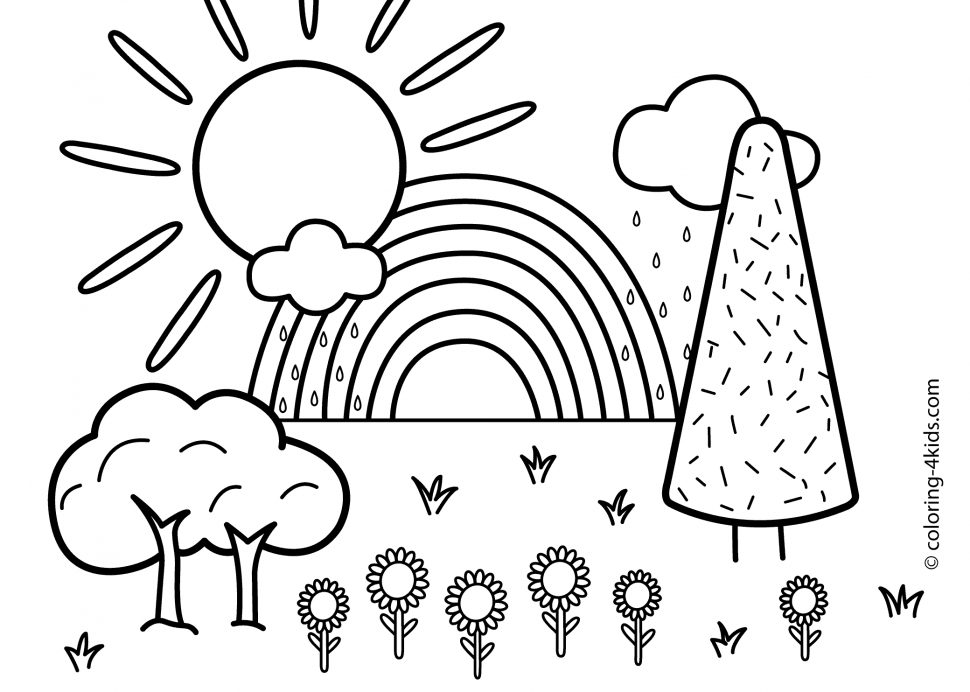 nature scene nature coloring pages welcome to dover publications creative haven spring nature pages nature scene coloring