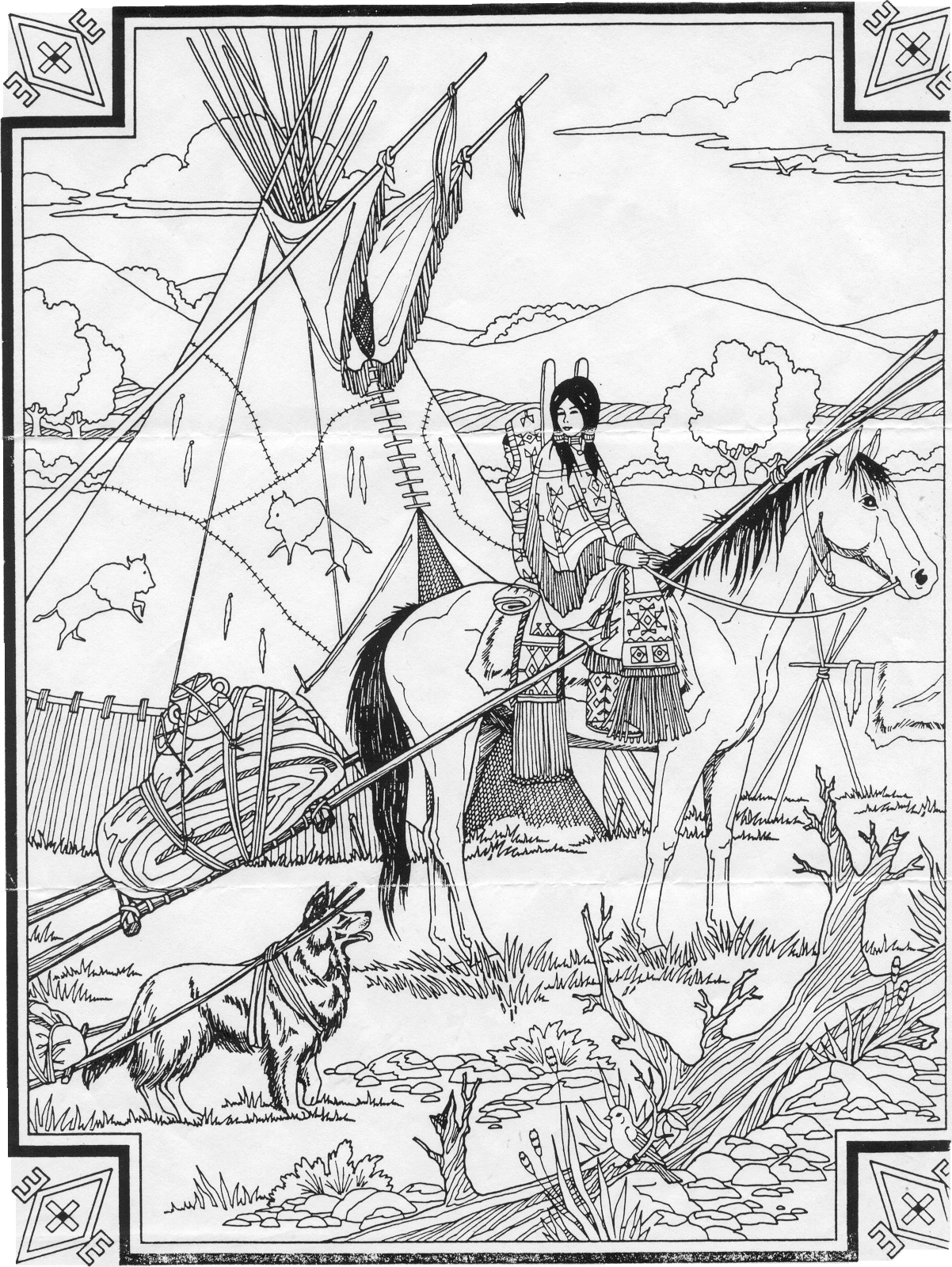 navajo indian coloring pages 23 best ideas indian coloring pages for adults home navajo coloring pages indian