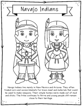 navajo indian coloring pages adult native americans indians danse totem by marion c coloring navajo indian pages