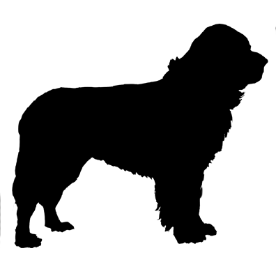 newfoundland silhouette pomeranian silhouette at getdrawings free download newfoundland silhouette