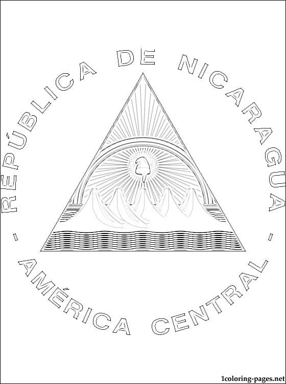 nicaragua flag printable colouring book of flags central and south america flag printable nicaragua