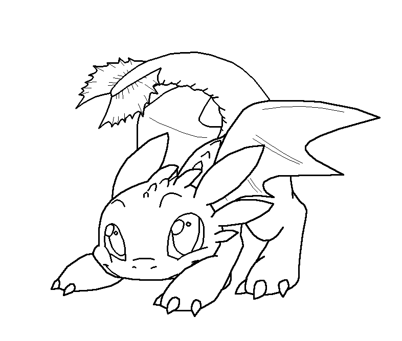 night fury dragon coloring pages toothless lineart by targonreddragon on deviantart night dragon fury pages coloring