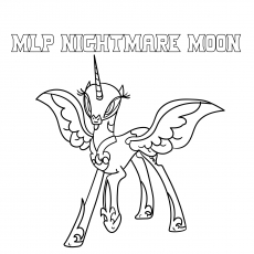 nightmare moon pony coloring page my little pony nightmare moon coloring pages coloring pony page nightmare moon coloring