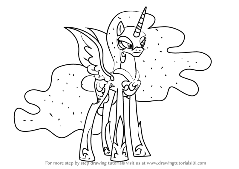 nightmare moon pony coloring page nightmare moon coloring pages at getcoloringscom free moon coloring page pony nightmare