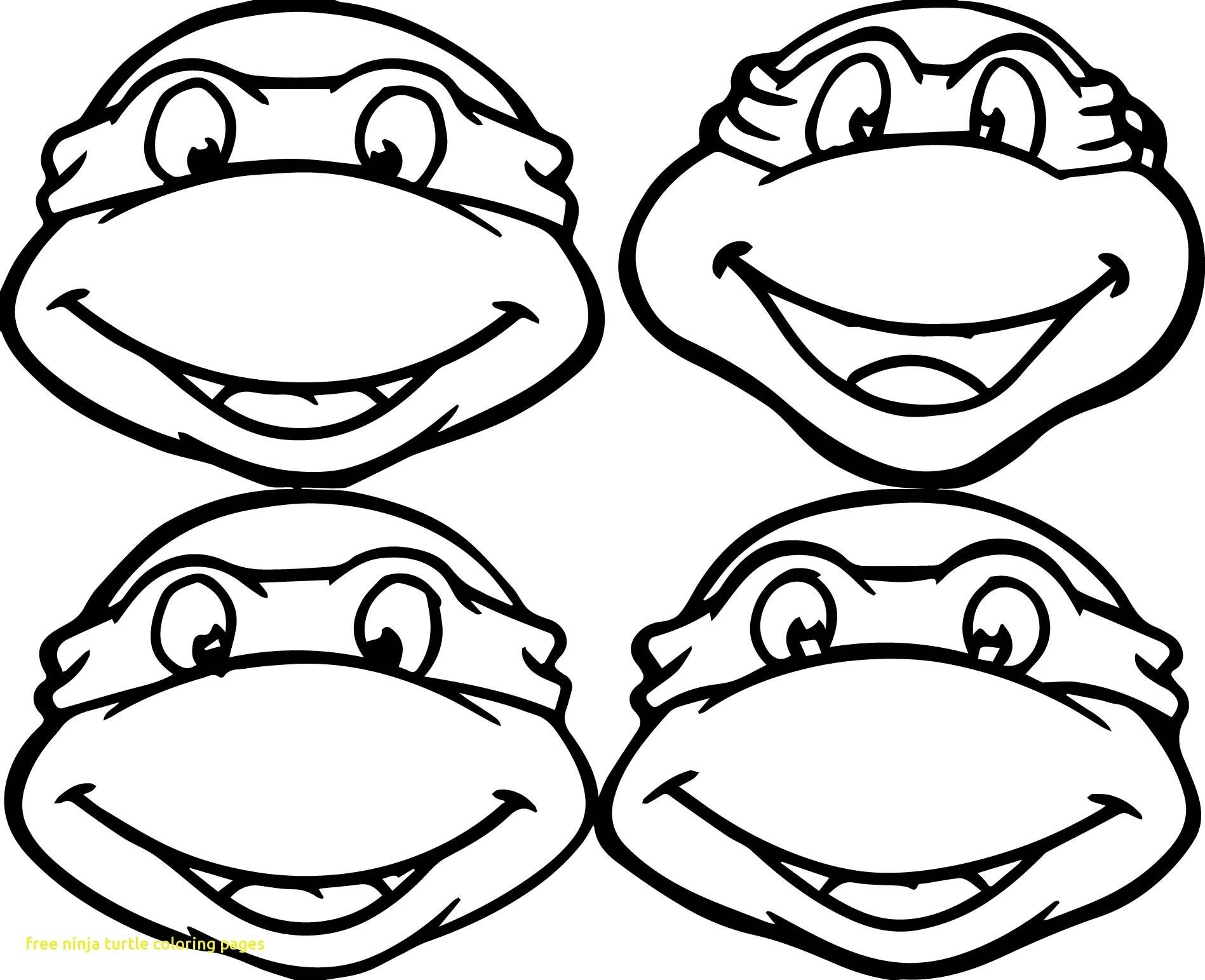 Ninja turtles face coloring pages