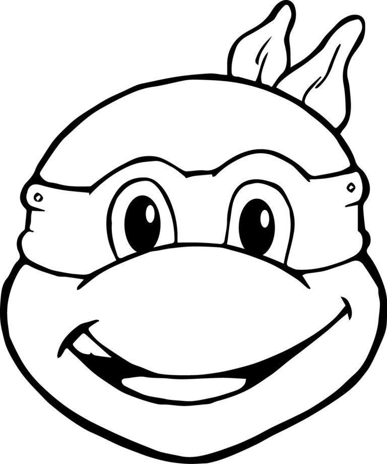 ninja turtles face coloring pages turtle face drawing at getdrawings free download turtles ninja pages face coloring