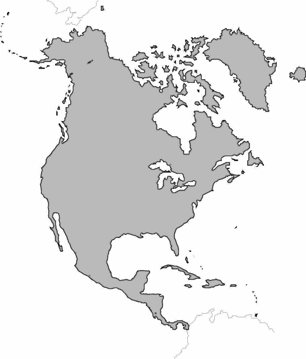 north america map outline blank outline map of north america whatsanswer america outline north map