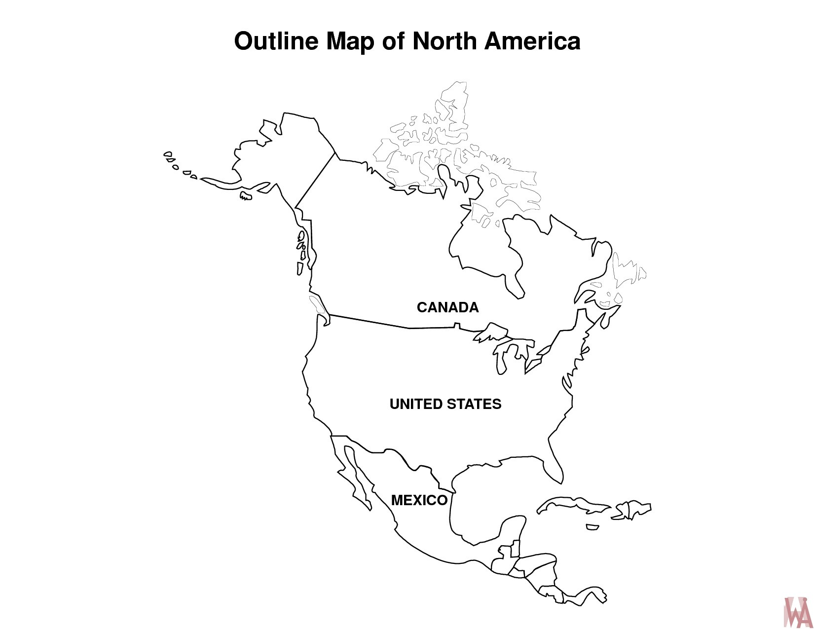 north america map outline maps of dallas blank map of north america north outline map america