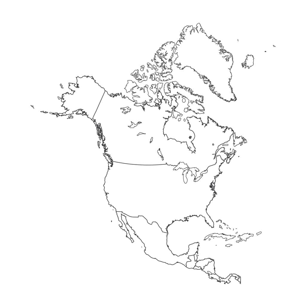 north america map outline printable outline of north america north america north outline map america