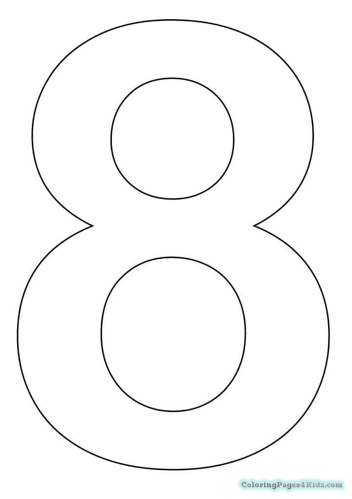 number 8 coloring sheet number 8 coloring page getcoloringpagescom 8 sheet number coloring