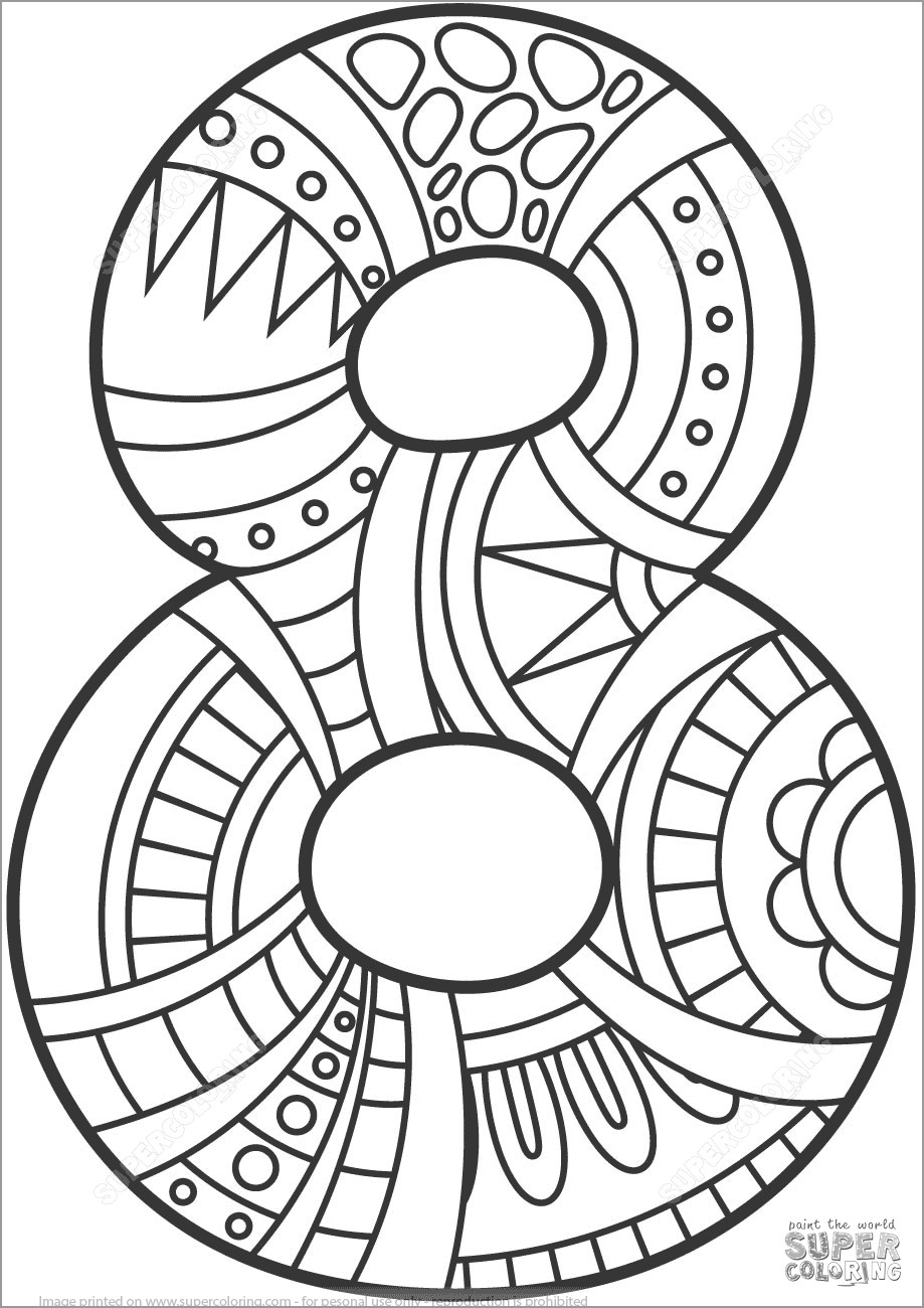 number 8 coloring sheet number 8 coloring page getcoloringpagescom number 8 sheet coloring