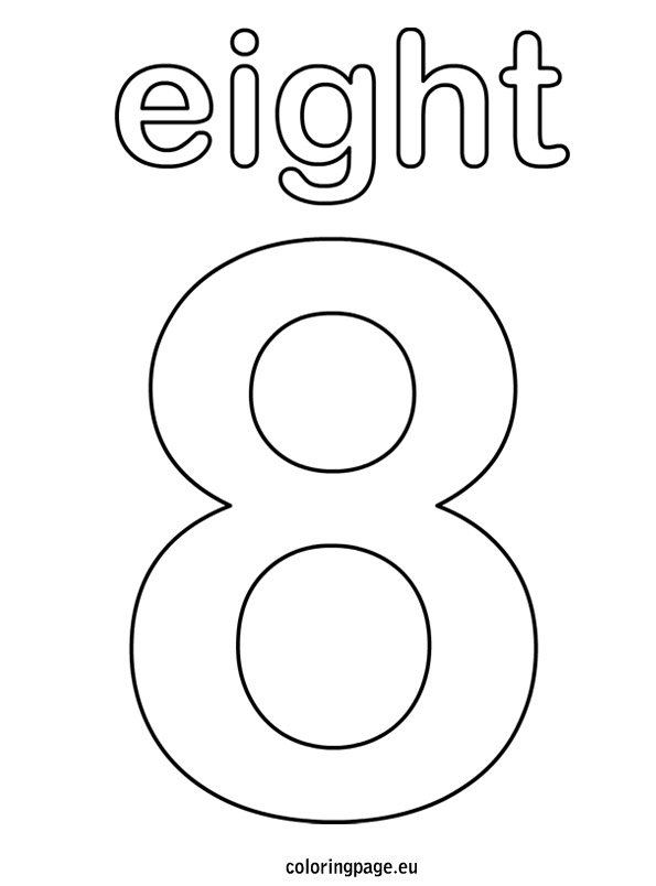 number 8 coloring sheet numbers coloring pages coloring pages to download and print number coloring sheet 8