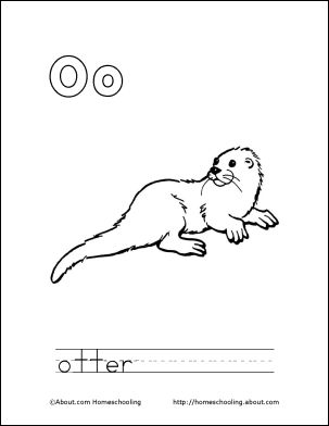 o is for otter coloring page 1000 images about homeschooling alphabet on pinterest coloring page for o is otter