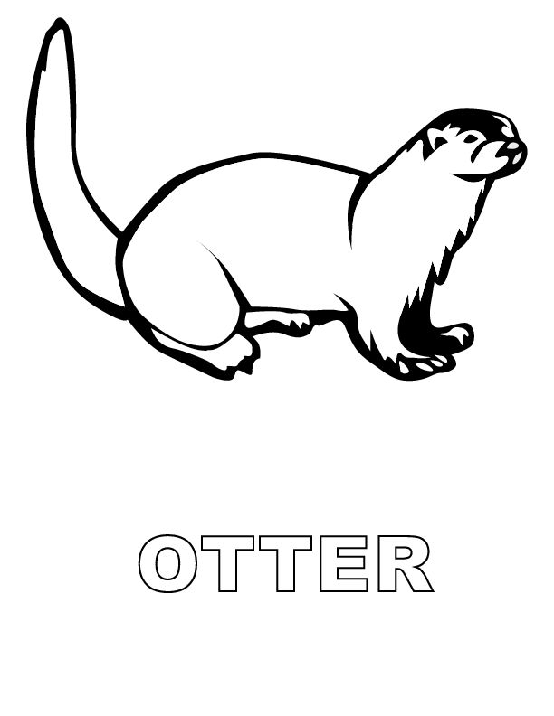 o is for otter coloring page 85 best homeschooling alphabet animals images on coloring o is page for otter