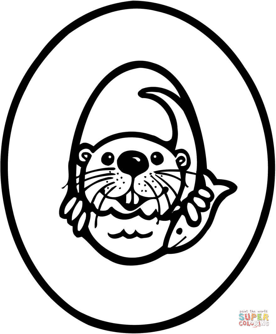 o is for otter coloring page ausmalbild buchstabe o für otter ausmalbilder kostenlos coloring for otter is page o