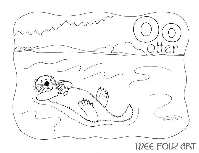 o is for otter coloring page nature alphabet coloring page letter o homeschool companion otter page for is o coloring