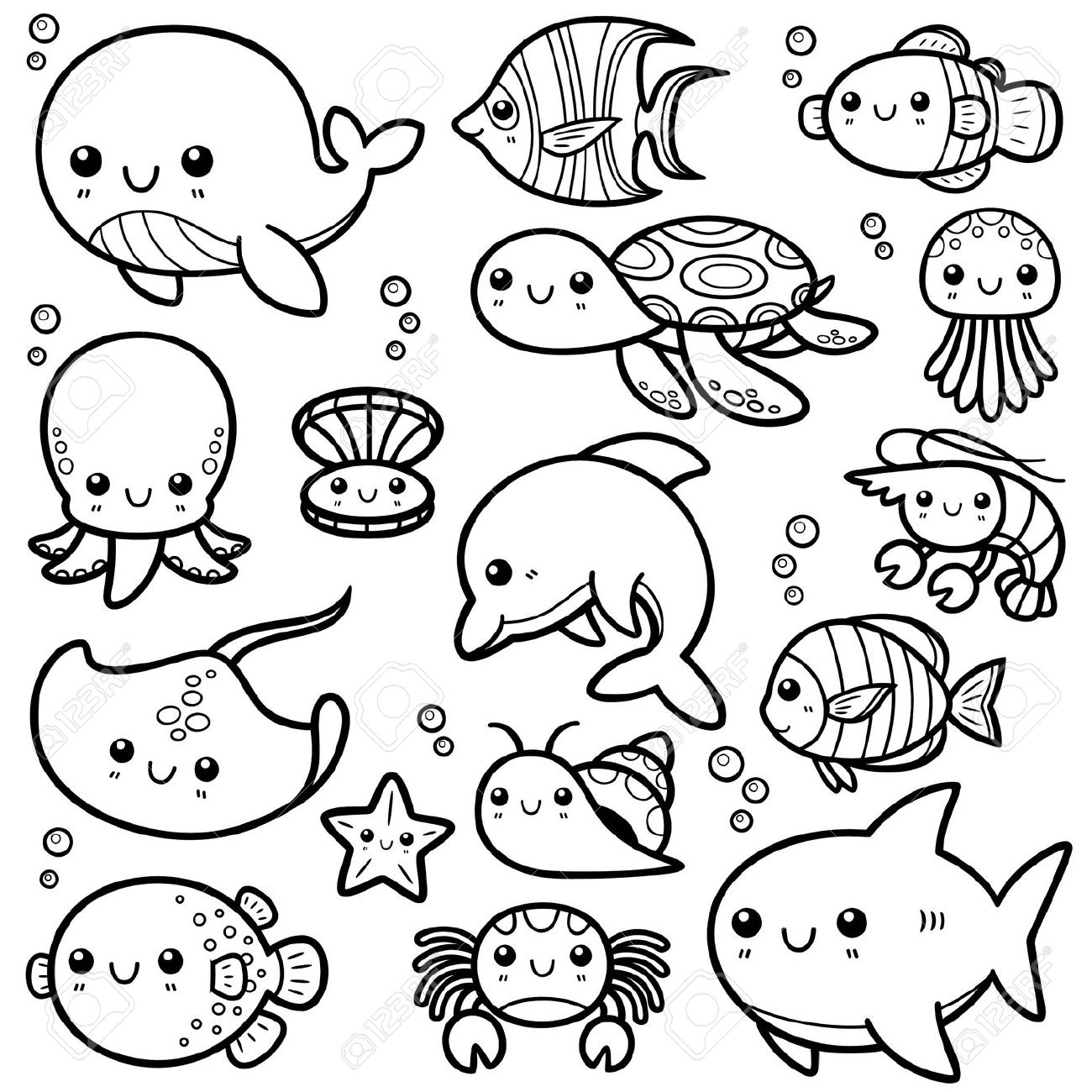 ocean animals printable coloring pages best ocean animals coloring pages for kids best coloring ocean printable animals pages coloring
