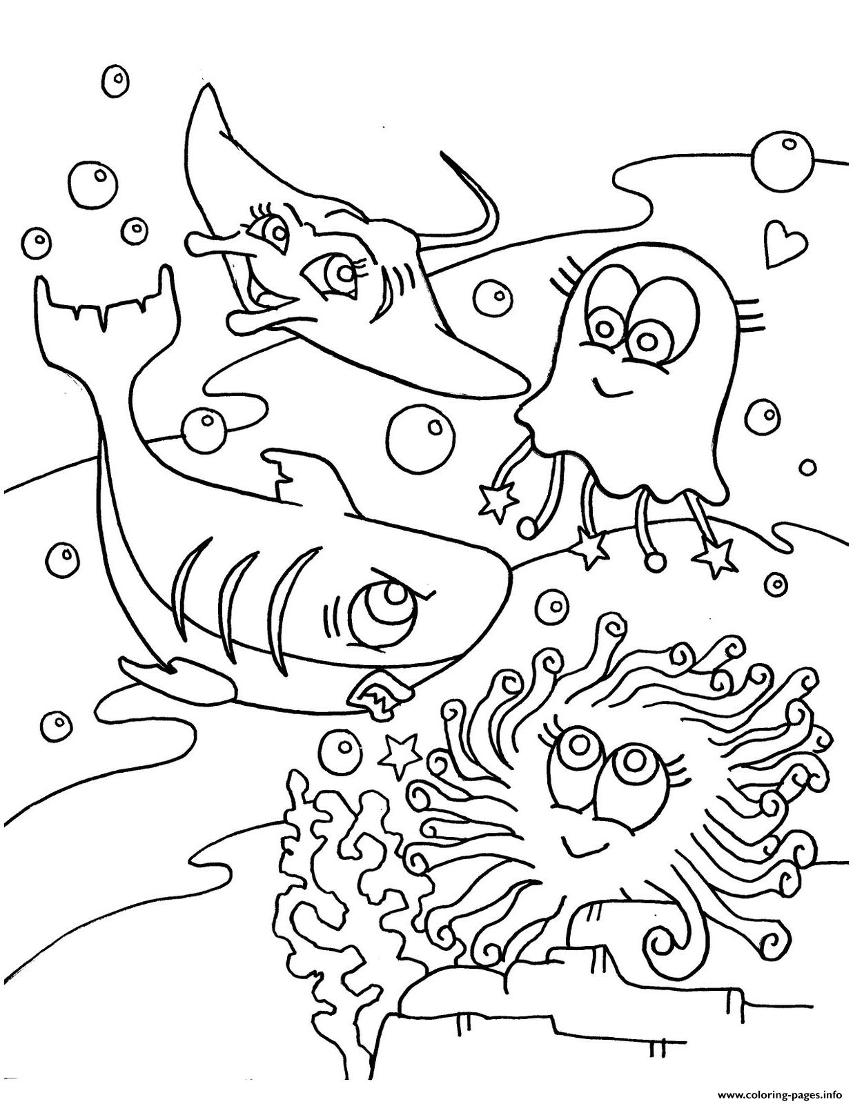 ocean animals printable coloring pages cute s of sea animals8e91 coloring pages printable pages animals coloring ocean printable