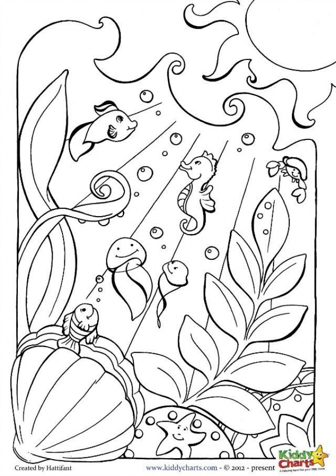 ocean animals printable coloring pages seascape ocean coloring page 34 animals coloring printable ocean pages