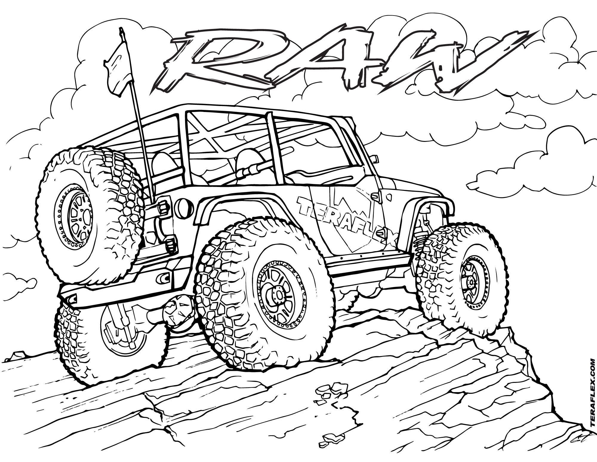 off road truck coloring pages jeep off road coloring page off road car car coloring coloring pages road truck off